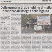 Giornale di Sicilia 5 ott 20011    Piazza Citta' Libera - Edificio residenziale