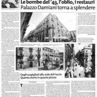 Giornale di Sicilia 3 ott 2008            Restauro Palazzo Damiani